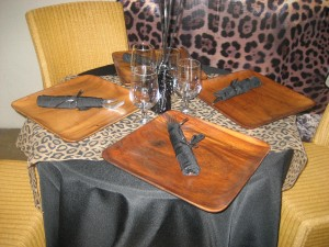Table decor Indian Springs African themed party