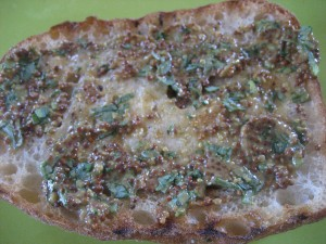 Tarragon, whole grain mustard spread